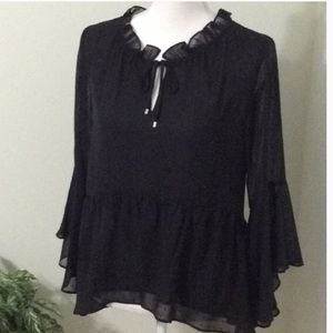 Sheer flowy blouse